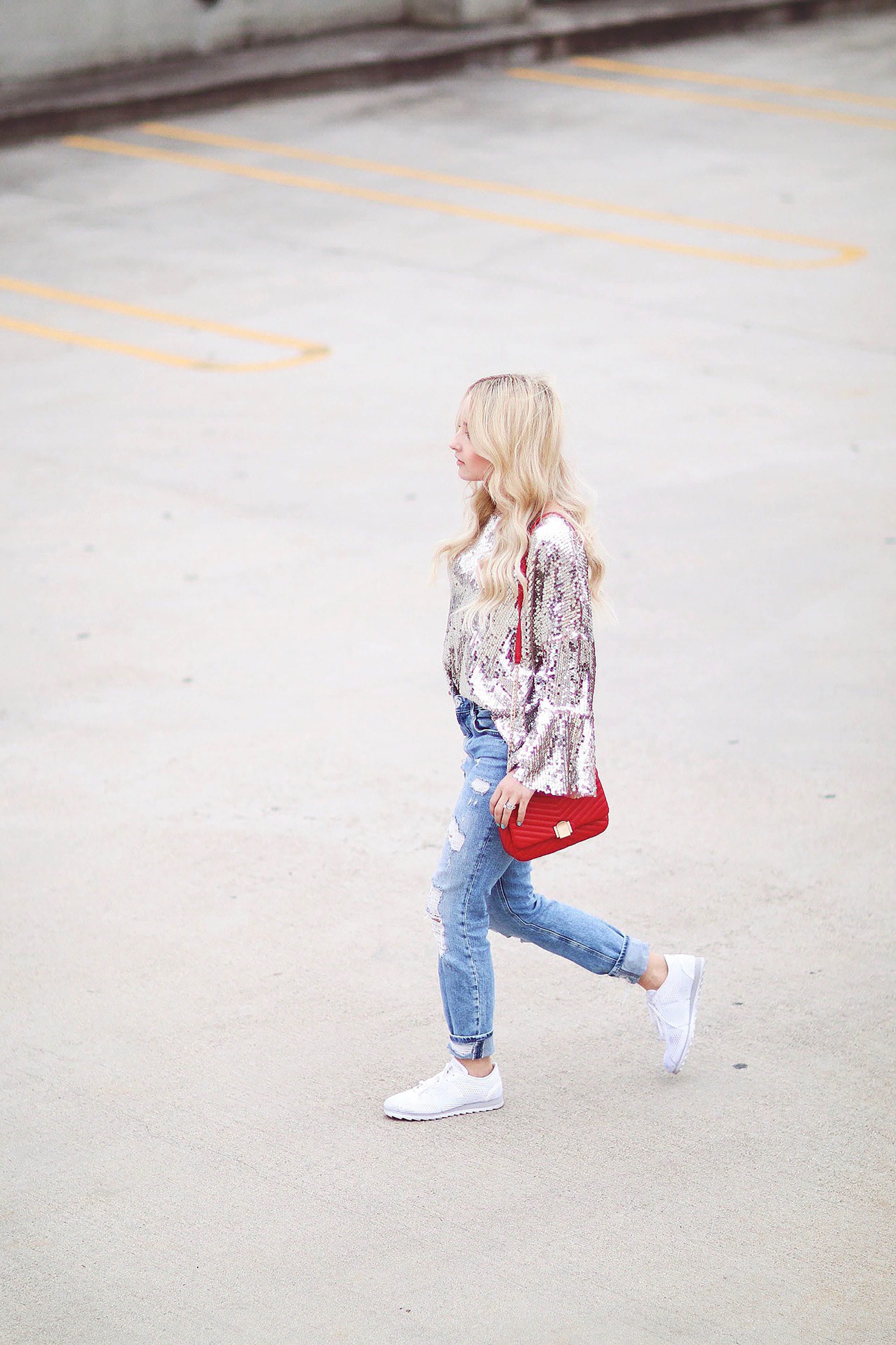DRESSING DOWN YOUR SEQUIN TOP FOR EVERYDAY WEAR