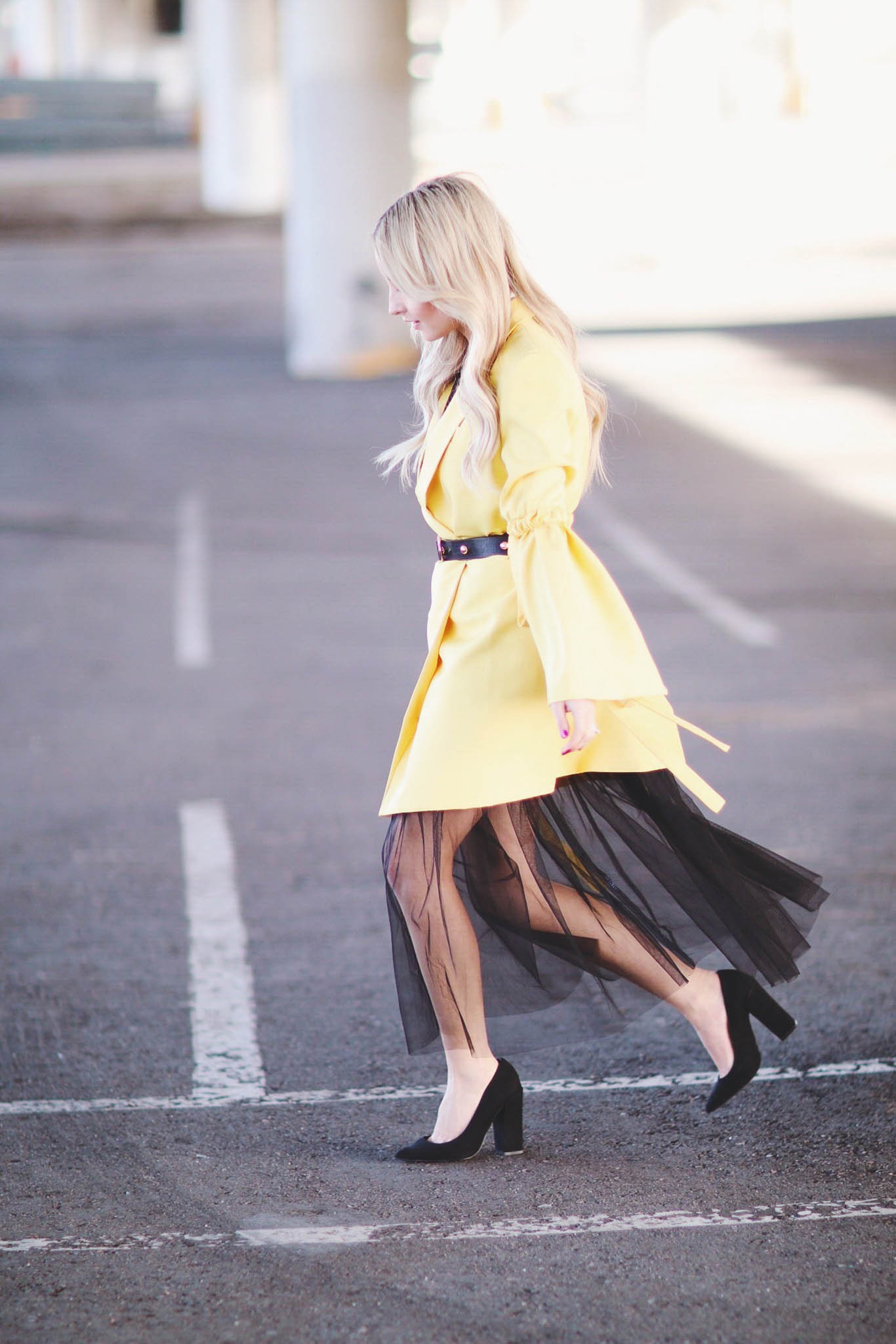 LAYERING WITH A TULLE MAXI DRESS