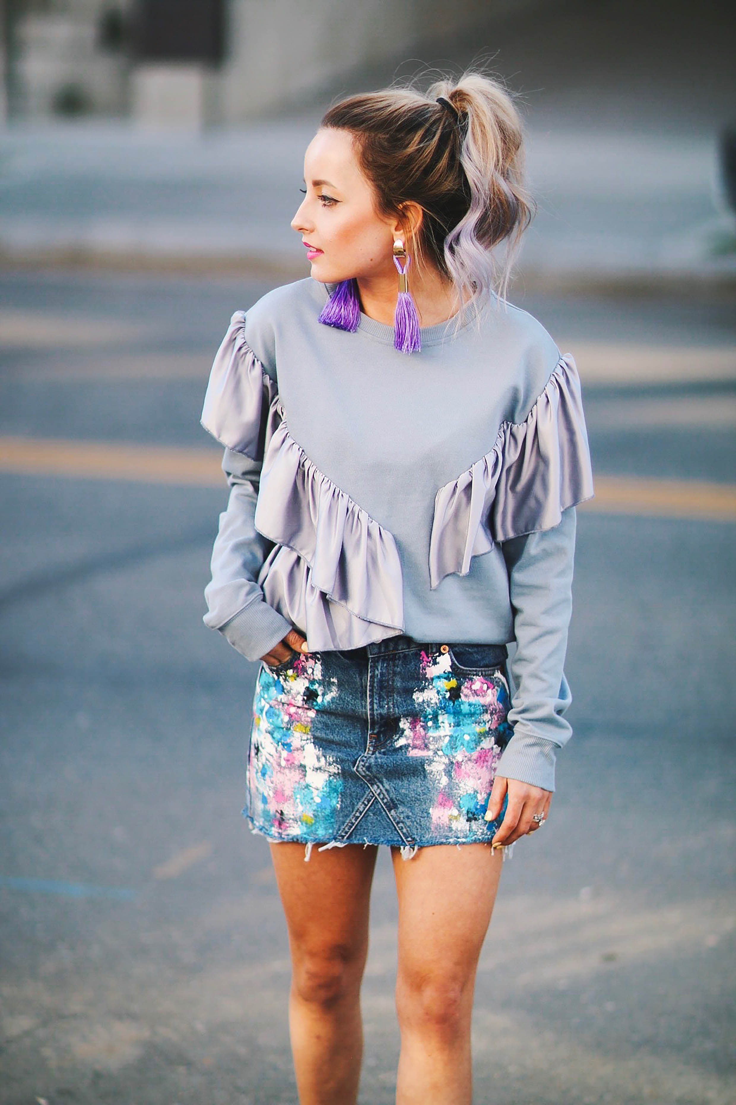 RUFFLES AND DENIM FOR SPRING